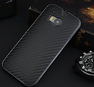 Protective Carbon Fiber + Plastic Back Case for  HTC One 2 M8 (Assorted Colors)