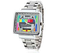 Мужской Наручные часы Кварцевый Нержавеющая сталь Группа Черный Серебристый металл Золотистый