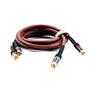 5M 16.4FT 2RCA Plug Male to 2RCA Plug Male Audio Cables Free Shipping