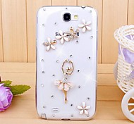 Diamond Dancing Girl Back Cover Case for SAMSUNG GALAXY Note 2 N7100