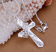 Charming Silver  CrossShape Men's Pendents