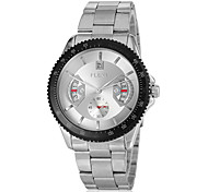 Men's Auto-Mechanical Calendar Silver Steel Band Wrist Watch (Assorted Colors) Cool Watch Unique Watch