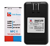 Link Dream  Cell Phone Battery with NFC+Charger  for Samsung Galaxy S5 i9600 (3800 mAh)