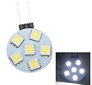 merdia g4 0.5w 30lm 6x5050smd LED bianco luce decorativa / luce posto auto (1pc / 12v)