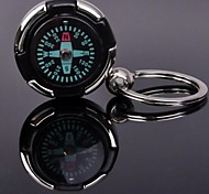 Key Chain Circular High Quality Compasses Silver Metal