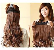 Venda quente clipe colorido no atacado na extensão do cabelo para 20inch Menina