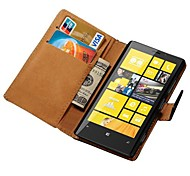 Genuine Leather Wallet Case for Nokia Lumia 920 Stand with Credit Card Holder New Arrival