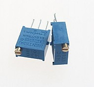 3296 Potentiometer 10kohm Adjustable Resistors - Blue (10 PCS)