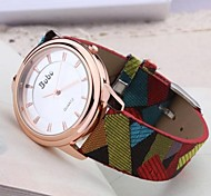 Women's Fashion Cloth Pattern Characteristic Color Big Dial Plate Watches