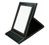 1Pcs Folding Pu Comestic Mirror