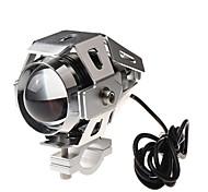 moto conversión de faros motocicleta faros LED super brillante iluminación de plata