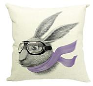 мультфильм кролик хлопок / лен декоративная наволочка