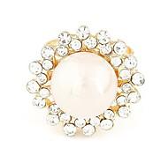 Fashion Rhinestone Pearl Ring
