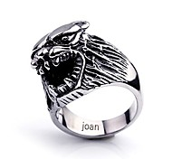Personalized Gift  Fashionable Wolf Shaped Stainless Steel Jewelry Engraved  Men's Ring