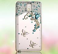 алмаз бабочки задняя обложка чехол для Samsung Galaxy i9600 s5
