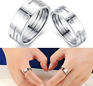 Fashionable Men and Women  Symbol Titanium Lovers ring