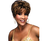 Deep Brown Curly Quality Short Wig For Woman