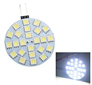 Merdia G4 1.5W 120LM 24x5050SMD LED White Car Decorative Light / Spot Light(1PC/12V)