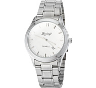 Women's Simple Round Dial Alloy Band Quartz Analog Dress Watch (Assorted Colors)
