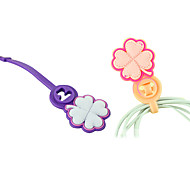 Cute Flower Shaped Soft Cable Winder Manager Wrap Device for Earphones Cable Cord