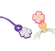 en forma de cable suave gerente bobinadora dispositivo de envoltura de flores lindo para cable de cable de auriculares