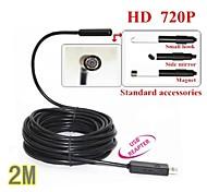 usb endoscoop endoscoop slang mini 10mm lens 4 leidde IP67 waterdichte inspectie camera borescope 2m