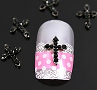 10pcs   Red Rhinestone Crossing Finger Tips Accessories Nail Art Decoration
