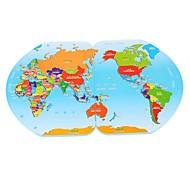 forma mondiali stereo giocattoli in legno, mappa, bandiera puzzle