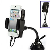 Rotary FM Sucker FM Transmitter with Car Charger and 3.5mm Audio Cable Car Holder for iPhone 5/5S