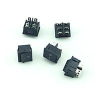 250V 10A 6Pin 3Mode Rocker Switch  5 PCS