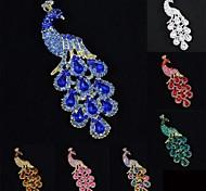 mulheres fabuloso broche de strass partido jóias pavão pavão broche (mais cores)