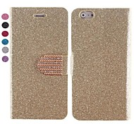Color Grain Design PU Leather Case with Card Slot and Stand for iPhone 6(Assorted Colors)