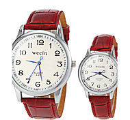 Couple's Casual Style PU Band Quartz Wrist Watch (Assorted Colors) Cool Watches Unique Watches Fashion Watch