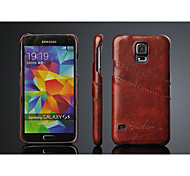 Fashion® PU Leather Back Cover Case with Card Slot for Samsung Galaxy S5 I9600