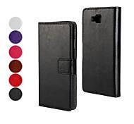 PU-Leder Ganzkörper-Fall mit Standplatz und Kartensteckplatz für LG Optimus L9 ii (verschiedene Farben)