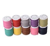 jóias diy multi-cores cordão de camurça coreano (10 metros / muito), colar& cordão pulseira (multicolor)