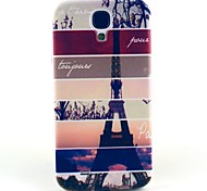 Striped Eiffel Tower Pattern Hard Case Cover for Samsung Galaxy S4 I9500
