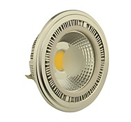 10W G53 Spot LED AR111 1 COB 1000-1100LM lm Blanc Chaud DC 12 / AC 12 V