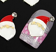 10pcs   Santa Claus For Xmans Finger Tips Accessories Nail Art Decoration