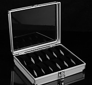Classic Superior 12 Sets Watch Box Silver Alloy Flannelette Jewelry Boxes(1 Pc)
