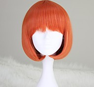 Short Straight BOB Hair Orange Synthetic Lolita Wig