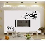 flor jiubai ™ vinha padrão adesivo de parede para casa a decoração da parede do decalque
