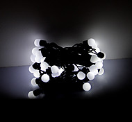5M 50 LEDs Christmas Halloween decorative lights festive strip lights-White ball lights (220V)