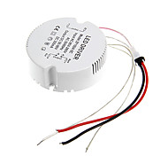 0.3a 19-24w dc 50-90v al conductor ac 85-265v circular externa de corriente constante fuente de alimentación para la lámpara de techo llevada
