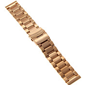 24mm High Quality Rose Gold Precise Stainless Steel Watchband