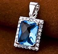 I FREE®S925 Silver Sapphire Inlaid Zircon Pendant (1 pc)