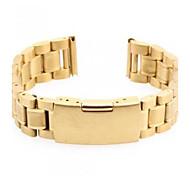 Unisex's Steel Watch Band Strap 170MMx18MMx3MM (Golden)