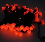 Marsing® Christmas decorative 5M 8W 50-LED Flash Modes Festival Ball Party Orange Light Strip - (AC110-220V)