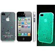 Dot Print Glow-in-the-Dark Plastic Case for iPhone 4/4S
