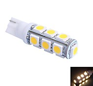 T10 2.5W 250LM 13×5050 SMD LED Color Light for Car Dashboard / Door / Trunk Lamps (DC 12V,, 1Pcs)